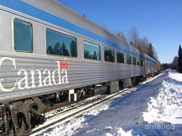 Photograph - Ride The Canada Rails by Vivian Martin