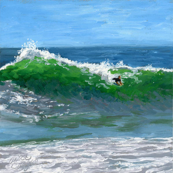 Newport Wall Art - Painting - Ride The Wild Wedge by Alice Leggett