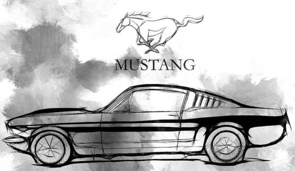 American Car Drawing - Ride The Wild Wind by Steve K