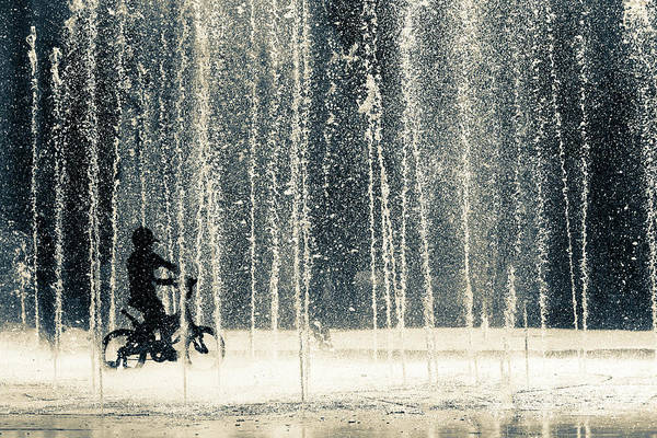 Water Droplets Photograph - Ride Through The Drops by Ehsan Razzazi