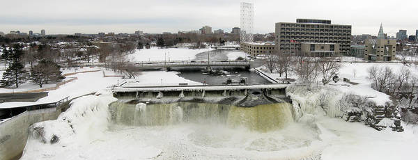 Photograph - Rideau Falls In Winter by Rob Huntley