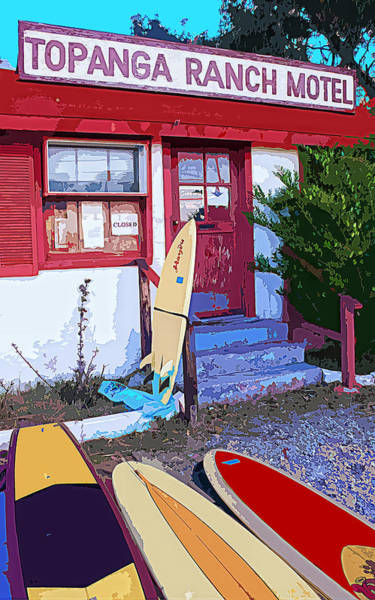 Longboard Photograph - Riders At Topanga Ranch Motel by Ron Regalado