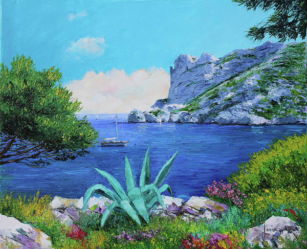 Wall Art - Painting - Ridge Of Somiou by MGL Meiklejohn Graphics Licensing
