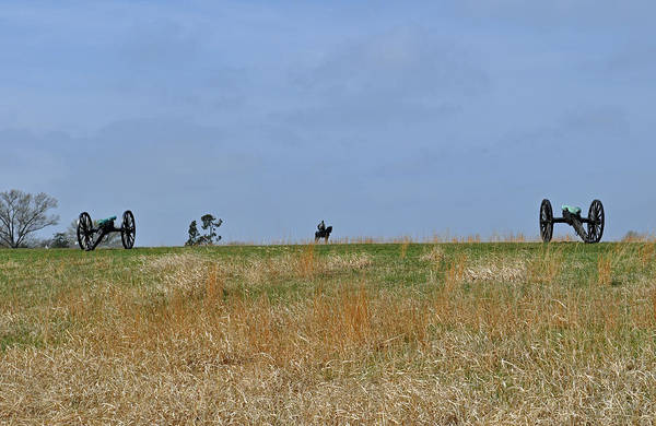 Photograph - Ridgeline With Stonewall Jackson At Manassas National Battlefield Park by Bruce Gourley