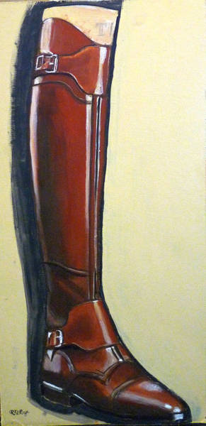 Painting - Riding Boot by Richard Le Page