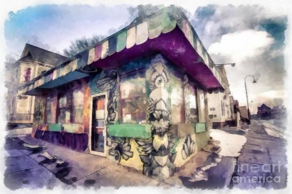 Wall Art - Photograph - Riding High Skateboard Shop Watercolor by Edward Fielding