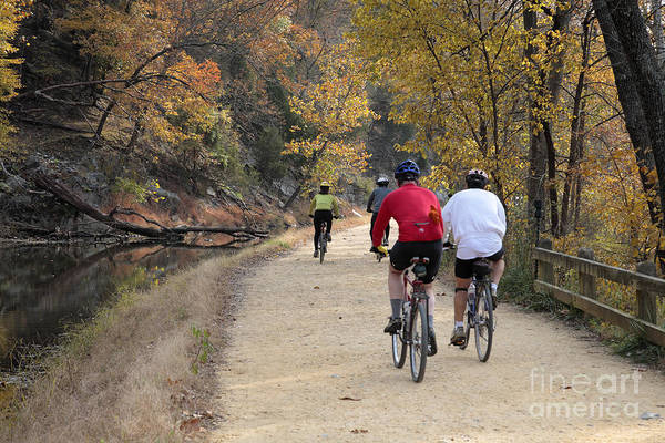 Photograph - Riding On The C And O Canal Towpath In Autumn by William Kuta