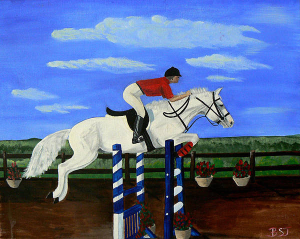 Painting - Riding The Wind by Barbara St Jean