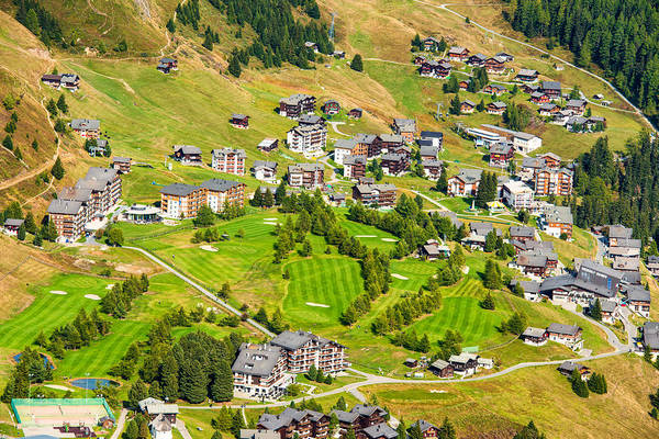 Photograph - Riederalp Switzerland With Golf Course by Matthias Hauser