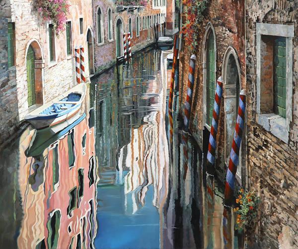 Canal Painting - Riflessi Colorati A Venezia by Guido Borelli