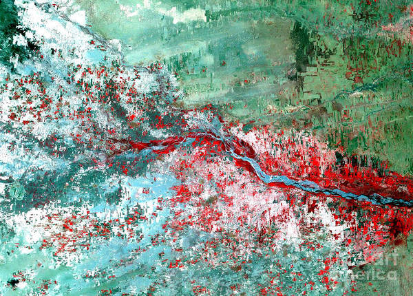 Photograph - Rift Valley Flooding Landsat 2000 by Science Source