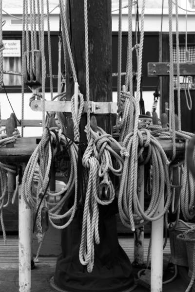 Wall Art - Photograph - Rigging On A Tall Ship - Monochrome by Ulrich Kunst And Bettina Scheidulin