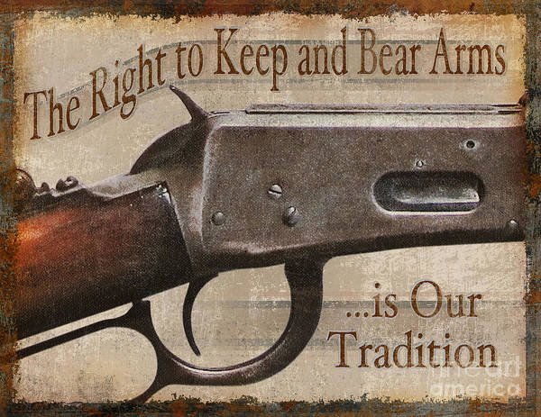 Painting - Right To Bear Arms by JQ Licensing