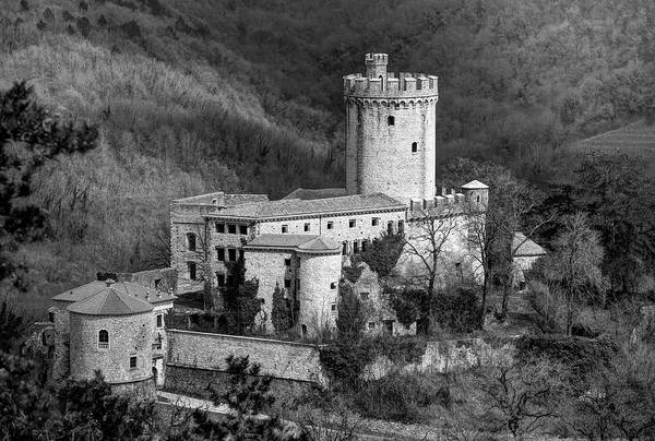 Photograph - Rihemberk Castle Bw by Ivan Slosar