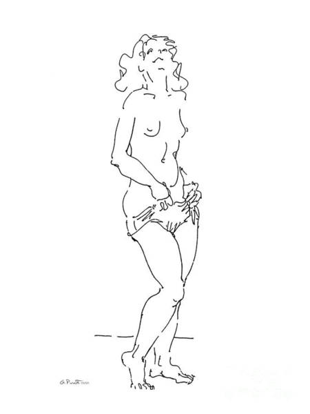 Art Print featuring the drawing Rikka Dressing 3of8 by Gordon Punt