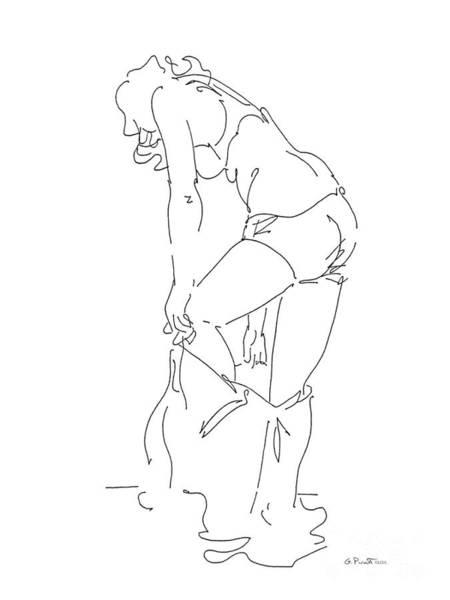 Drawing - Rikka Dressing 6of8 by Gordon Punt
