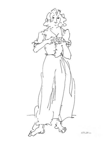 Drawing - Rikka Dressing 8of8 by Gordon Punt