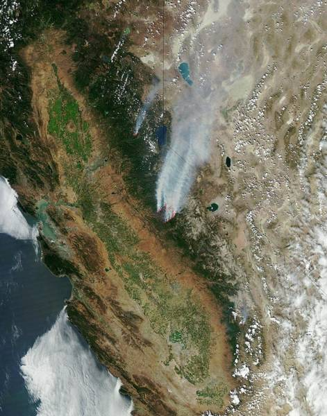Forest Fire Photograph - Rim Fire by Nasa
