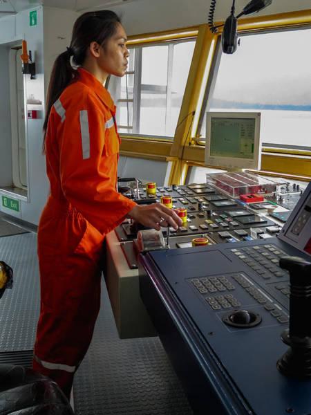 Rima Lumangtad Anchoring Z-drive Ship Art Print