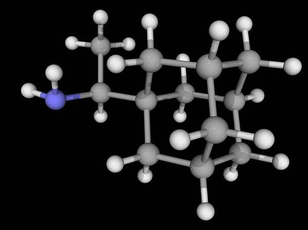 Molecular Wall Art - Photograph - Rimantadine Drug Molecule by Laguna Design/science Photo Library