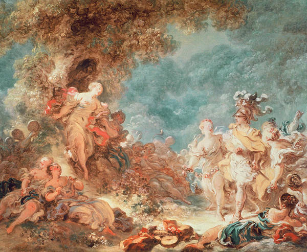 Enchantment Painting - Rinaldo In The Garden Of The Palace Of Armida by Jean-Honore Fragonard