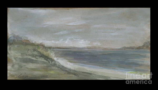 Utilitarian Painting - Rincon Seascape With Clouds by Cathy Peterson