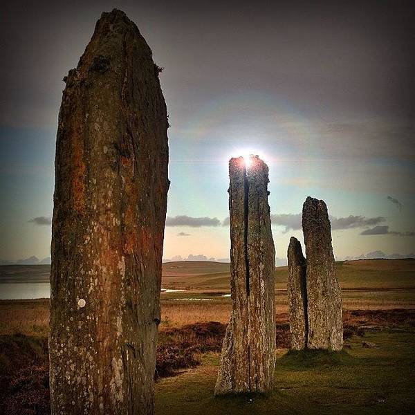 Ancient Photograph - Ring Of Brodgar Orkney by Phil Tomlinson