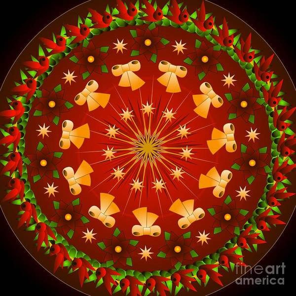 Digital Art - Ringing In Christmas  Red 2012 by Kathryn Strick