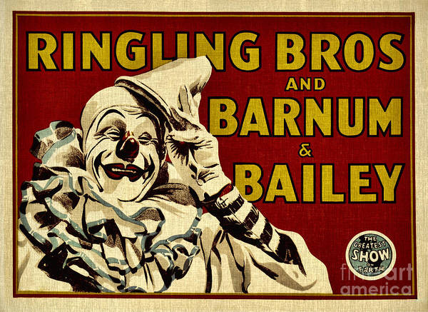 Wire Mixed Media - Ringling Bros   Barnum And Bailey Circus by Elaine Manley