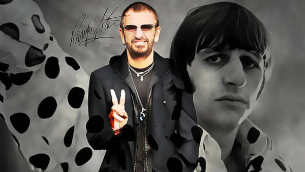 Music Room Mixed Media - Ringo Star by Marvin Blaine