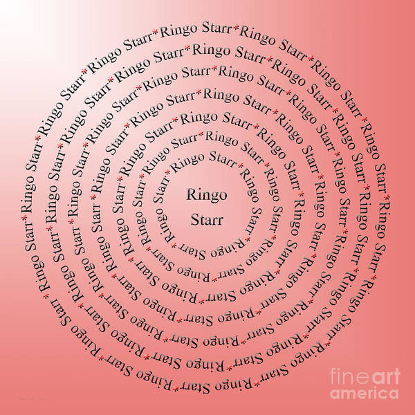 Digital Art - Ringo Starr Typography by Andee Design