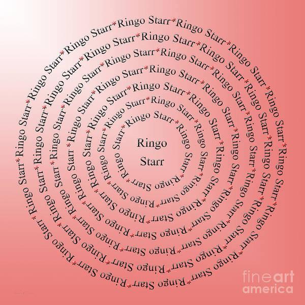 Ringo Star Wall Art - Digital Art - Ringo Starr Typography by Andee Design
