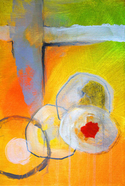 Ring Painting - Rings Abstract by Nancy Merkle