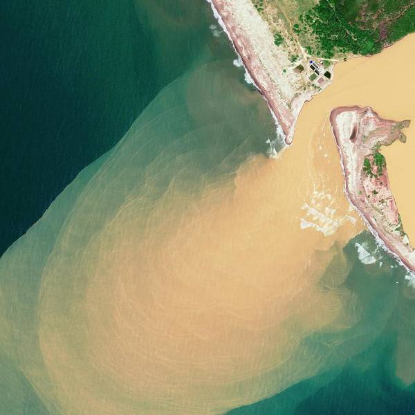 Wall Art - Photograph - Rio Baluarte Sediment by Geoeye/science Photo Library