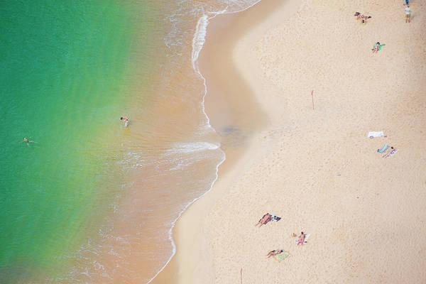Beach Holiday Photograph - Rio De Janeiro Beach From Above by Sam Diephuis