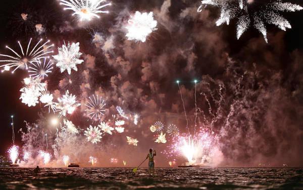 Offbeat Photograph - Rio De Janeiro Celebrates The New Year by Mario Tama