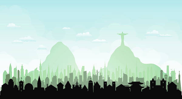 Exterior Digital Art - Rio De Janeiro Each Building Is by Leontura