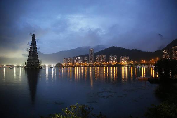 Rio De Janeiro Photograph - Rio De Janeiro Lights Annual Floating by Mario Tama