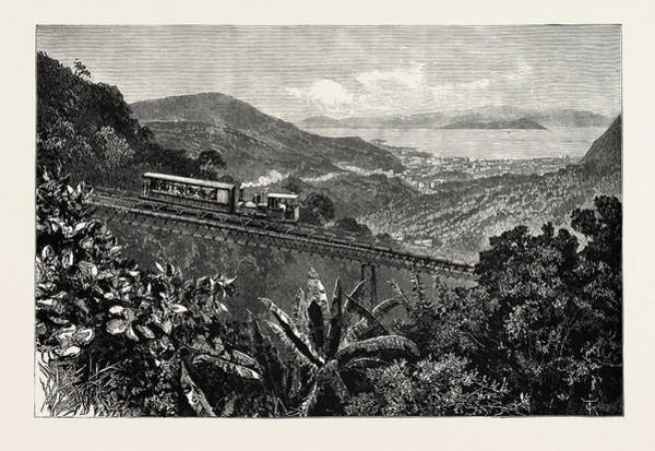 Wall Art - Drawing - Rio De Janeiro, Railway To The Summit Of Corcovado, City by English School