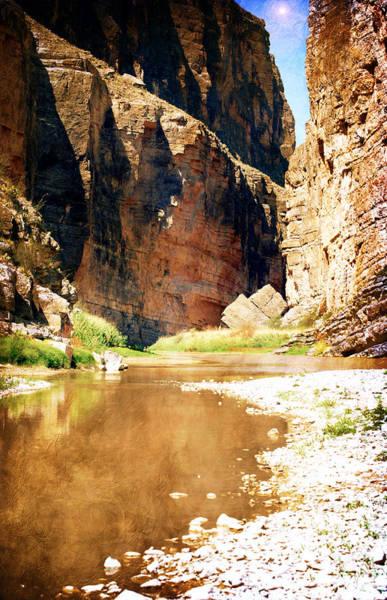 Rio Grande At Santa Elena Canyon Art Print