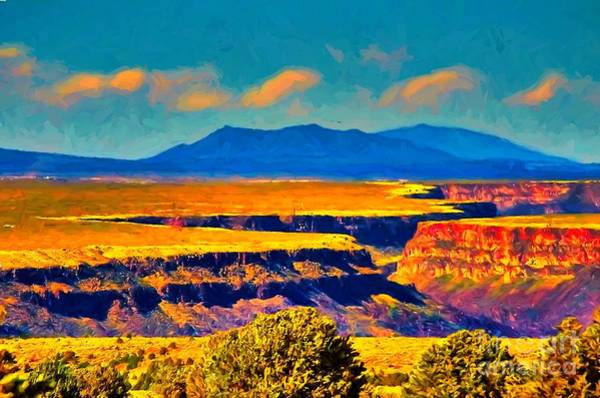 Painting - Rio Grande Gorge Lv by Charles Muhle