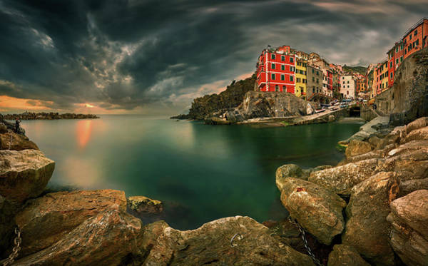 Wall Art - Photograph - Riomaggiore... by Krzysztof Browko