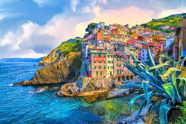 Sicily Painting - Riomaggiore Morning - Cinque Terre by Dominic Piperata