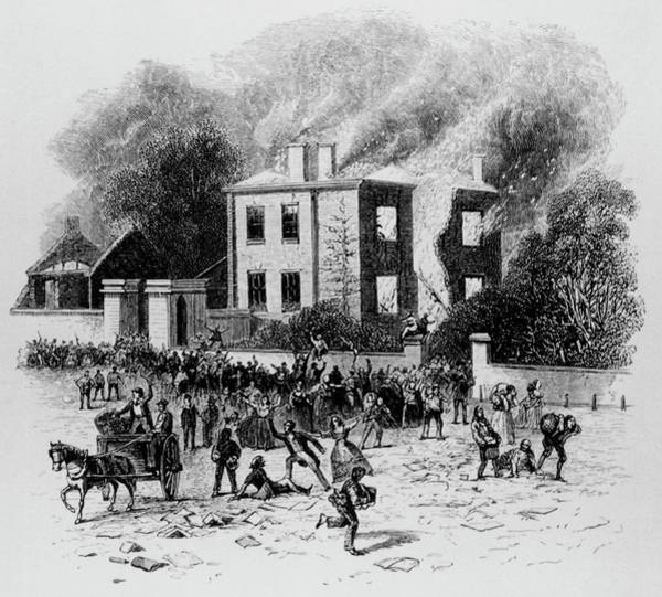 Fire House Photograph - Rioters Burn House Of Joseph Priestley by Science Photo Library