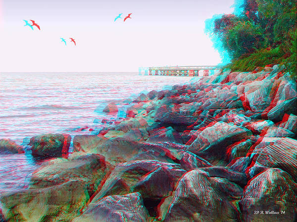 Anaglyph Photograph - Rip Rap - Use Red-cyan 3d Glasses by Brian Wallace
