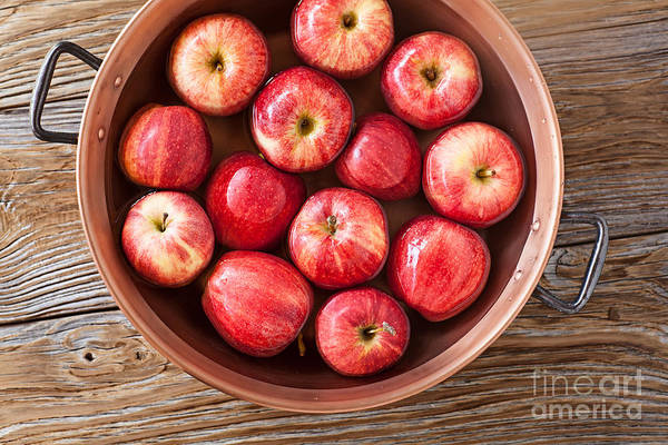 Bobbing For Apples Wall Art - Photograph - Ripe Red Delicious Apples Ready For The Party Game Bobbing For Apples by Susan McKenzi Delicious Apples Ready For The Halloween Party Game Bobe