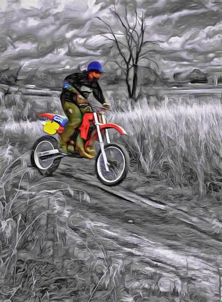 Dirt Bike Photograph - Rippin' - Paint by Steve Harrington