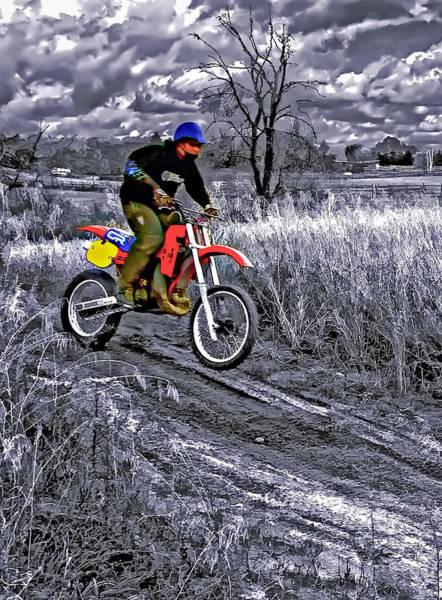 Dirt Bike Photograph - Rippin' by Steve Harrington