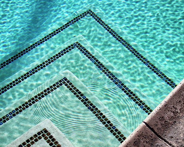 Pool Photograph - Ripple Effect Palm Springs by William Dey