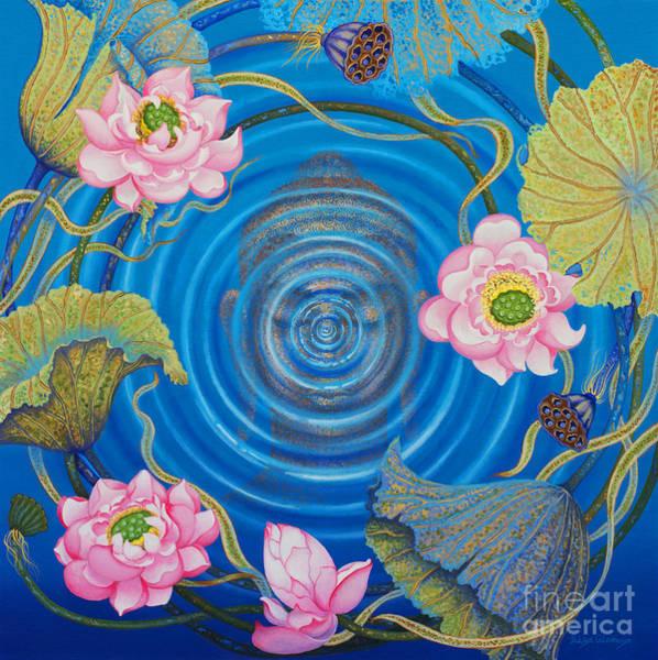 Wall Art - Painting - Ripple Effect by Yuliya Glavnaya